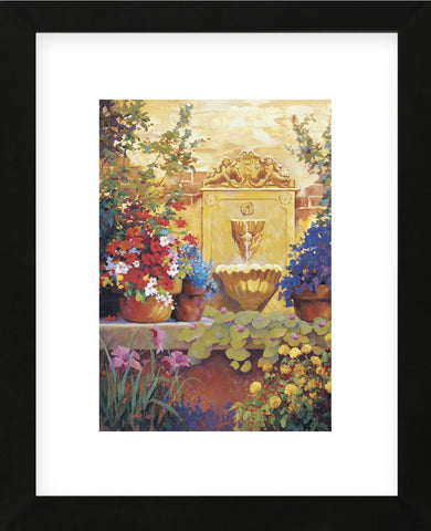 Patio Fountain  (Framed) -  Carolyne Hawley - McGaw Graphics