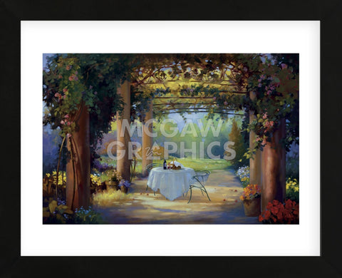 Vino al fresco  (Framed) -  Carolyne Hawley - McGaw Graphics