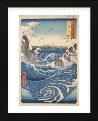 Ando Hiroshige - Rough Sea at Naruto in Awa Province