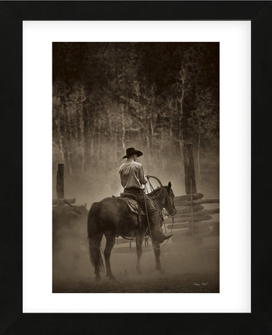 Lost Canyon Cowboy (Framed) -  Barry Hart - McGaw Graphics