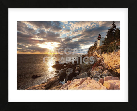 Bass Harbor Lighthouse (Framed) -  Michael Hudson - McGaw Graphics