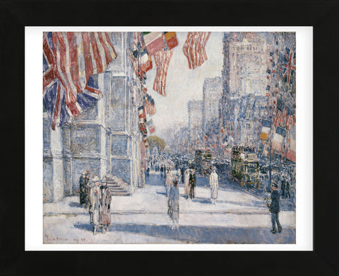 Childe Hassam - Early Morning on the Avenue in May 1917
