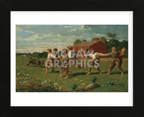 Snap the Whip, 1872 (Framed) -  Winslow Homer - McGaw Graphics