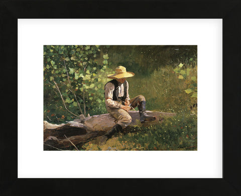 The Whittling Boy, 1873 (Framed) -  Winslow Homer - McGaw Graphics