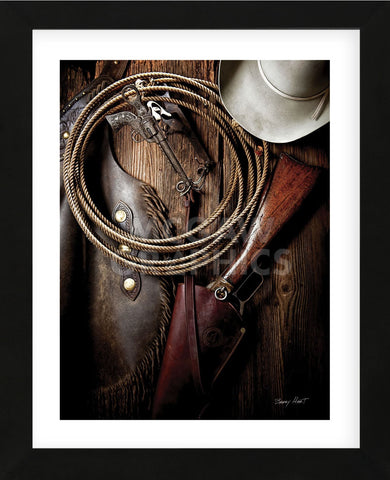 Pistol Bit and Rifle (color) (Framed) -  Barry Hart - McGaw Graphics