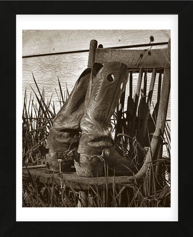 Boots on Chair (Framed) -  Barry Hart - McGaw Graphics