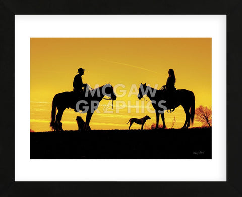 Evening Visit (Framed) -  Barry Hart - McGaw Graphics