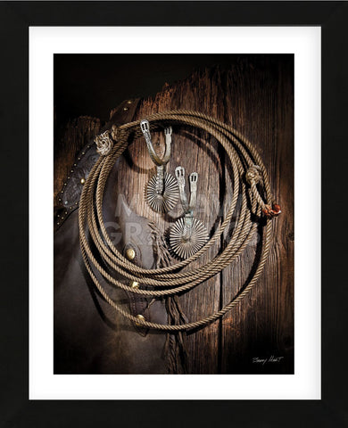 Rowels n Ropes (Framed) -  Barry Hart - McGaw Graphics