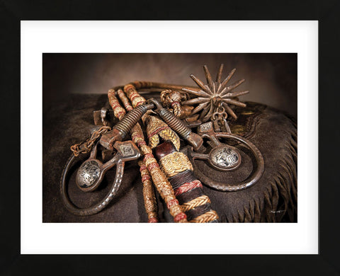 Snaffle Bit n Spur (Framed) -  Barry Hart - McGaw Graphics