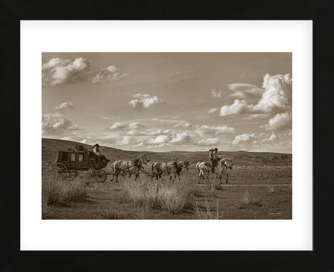 Sombrero Stagecoach (Framed) -  Barry Hart - McGaw Graphics