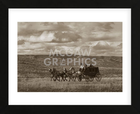 Stagecoach Run (Framed) -  Barry Hart - McGaw Graphics