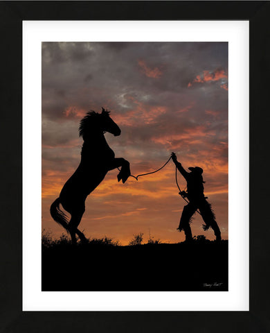Sunset Silhouette (Framed) -  Barry Hart - McGaw Graphics