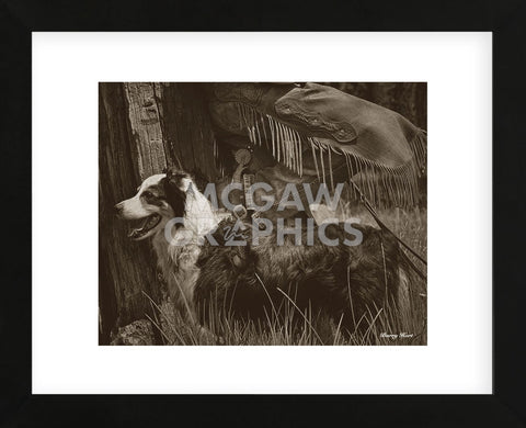 Cowboy's Friend (Framed) -  Barry Hart - McGaw Graphics