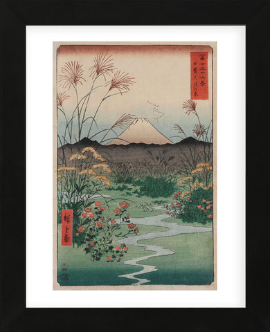 The Coast at Hota, from the series Thirty-six Views of Mount Fuji, 1858 (Framed) -  Ando Hiroshige - McGaw Graphics