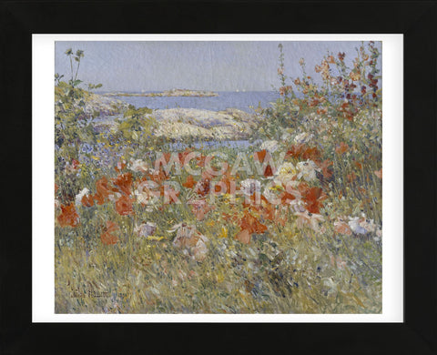 Celia Thaxter's Garden, Isles of Shoals, Maine, 1890 (Framed) -  Childe Hassam - McGaw Graphics