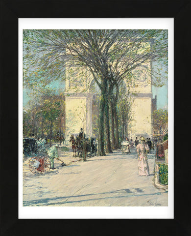 Washington Arch, Spring, 1890 (Framed) -  Childe Hassam - McGaw Graphics