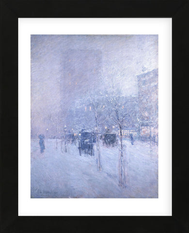 Late Afternoon, New York, Winter, 1900 (Framed) -  Childe Hassam - McGaw Graphics