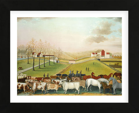 The Cornell Farm, 1848 (Framed) -  Edward Hicks - McGaw Graphics