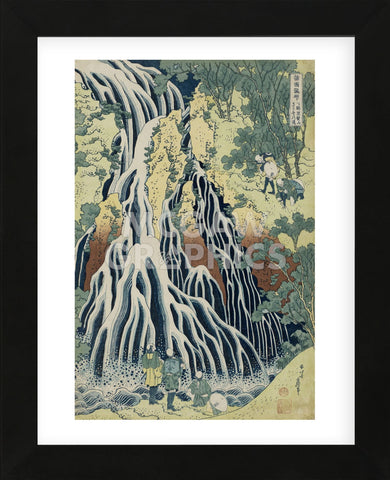 The Falling Mist Waterfall at Mount Kurokami in Shimotsuke Province (Framed) -  Katsushika Hokusai - McGaw Graphics