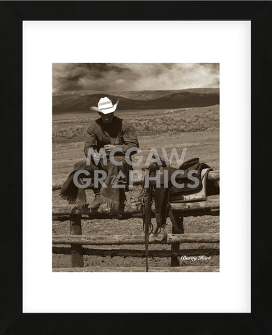 Smokin' Cowboy (Framed) -  Barry Hart - McGaw Graphics