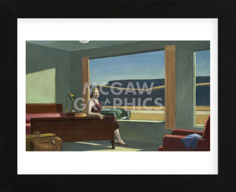Western Motel, 1957 (Framed) -  Edward Hopper - McGaw Graphics