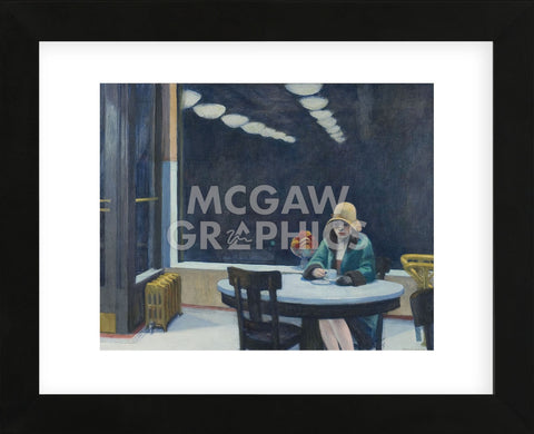 Automat, 1927 (Framed) -  Edward Hopper - McGaw Graphics