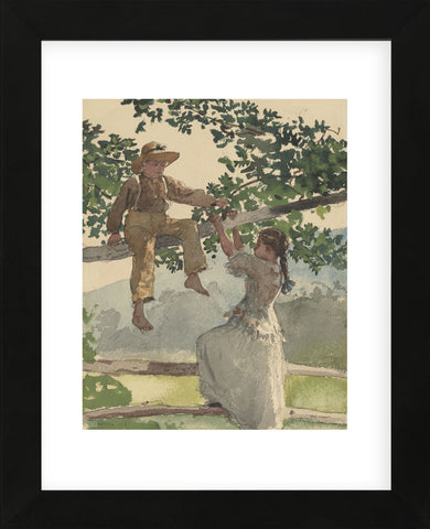 On the Fence, 1878 (Framed) -  Winslow Homer - McGaw Graphics