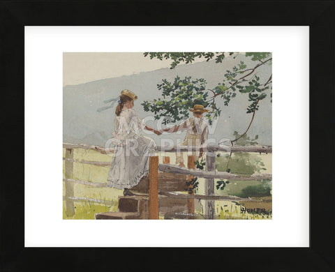 On the Stile, 1878 (Framed) -  Winslow Homer - McGaw Graphics