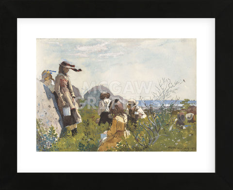 Berry Pickers, 1873 (Framed) -  Winslow Homer - McGaw Graphics