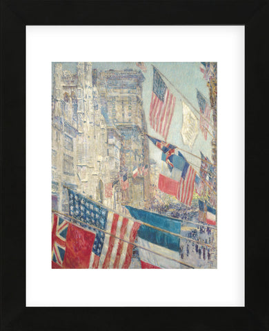 Allies Day, May 1917, 1917 (Framed) -  Childe Hassam - McGaw Graphics
