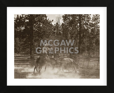 Roundup Day (Framed) -  Barry Hart - McGaw Graphics