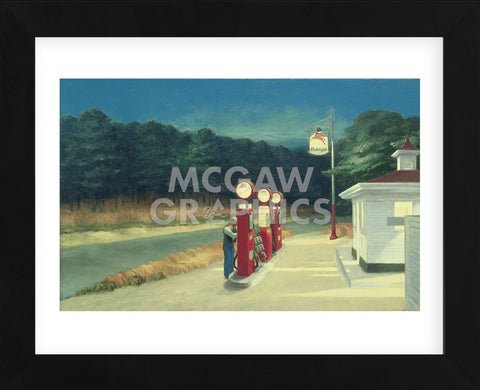 Gas, 1940 (Framed) -  Edward Hopper - McGaw Graphics