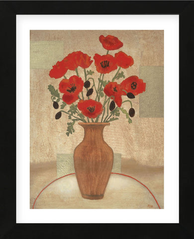 Crimson Poppies  (Framed) -  Beverly Jean - McGaw Graphics