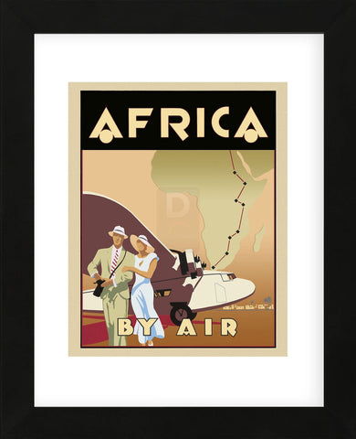Africa by Air  (Framed)
