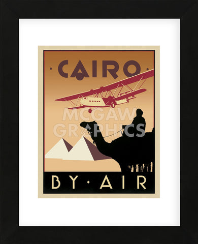 Cairo by Air (Framed) -  Brian James - McGaw Graphics