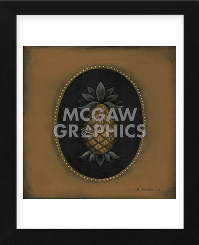 Pineapple 04 (Framed) -  Barbara Jeffords - McGaw Graphics