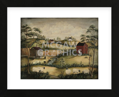 Grazing (Framed) -  Barbara Jeffords - McGaw Graphics