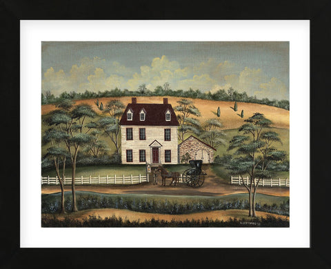 Arriving at the Inn (Framed) -  Barbara Jeffords - McGaw Graphics