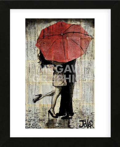 The Red Umbrella (Framed) -  Loui Jover - McGaw Graphics