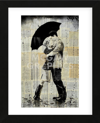 The Black Umbrella (Framed) -  Loui Jover - McGaw Graphics
