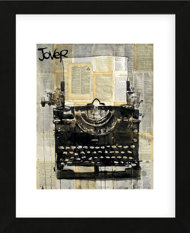 Typewriter (Framed) -  Loui Jover - McGaw Graphics