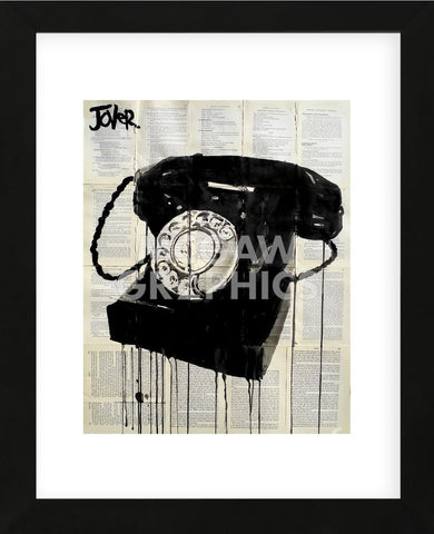 Black Phone (Framed) -  Loui Jover - McGaw Graphics