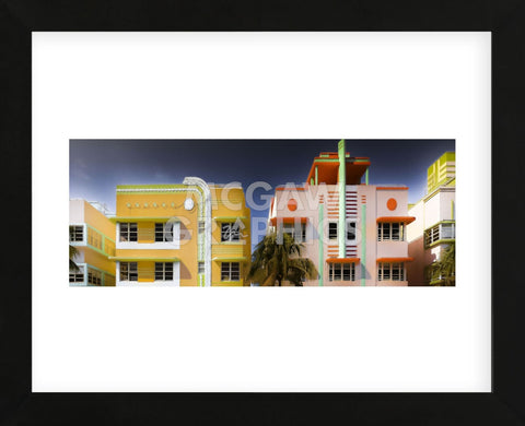 Miami Art Deco I (Framed) -  Richard James - McGaw Graphics