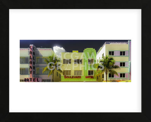 Miami Art Deco II (Framed) -  Richard James - McGaw Graphics