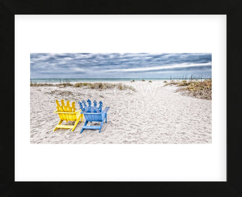 Beaching It (Framed) -  Mary Lou Johnson - McGaw Graphics