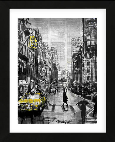 Brooklyn Cab (Framed) -  Loui Jover - McGaw Graphics