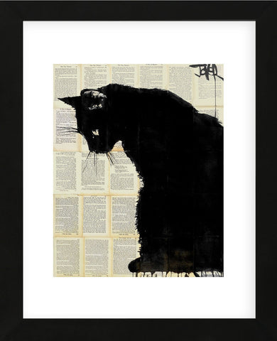 Black Cat (Framed) -  Loui Jover - McGaw Graphics