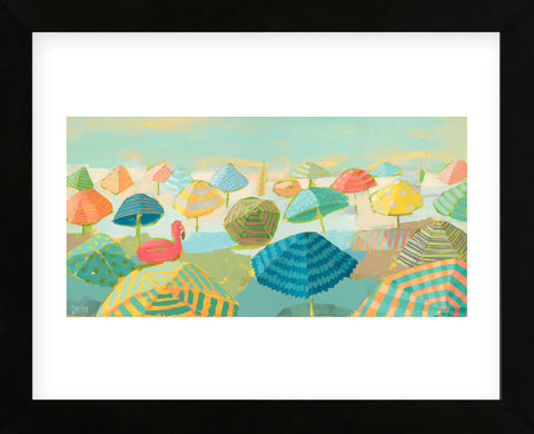 Flamingo Float (Framed) -  Dora Knuteson - McGaw Graphics