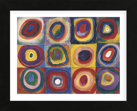 Farbstudie Quadrate  (Framed) -  Wassily Kandinsky - McGaw Graphics