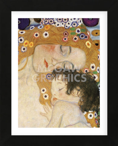 The Three Ages of Woman (detail) (Framed) -  Gustav Klimt - McGaw Graphics